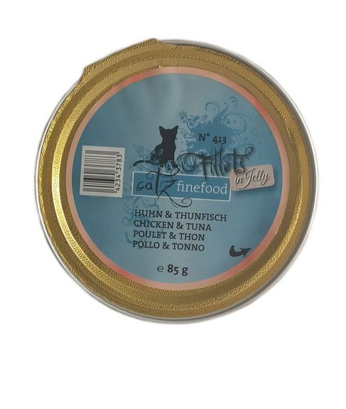 Fillets N°413 - catz finefood  Huhn & Thunfisch in Jelly 85g