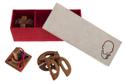 Geschenkbox mit Knobelspielen, Holz-Spiel, Denkspiel, Knobelspiel, Geduldspiel aus Holz – Bild 6