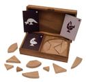 Varianten des Tangram Spieles für 2 Personen, Holz, Legespiel, Holzspiel, Denkspiel, Knobelspiel, Geduldspiel aus Holz – Bild 7