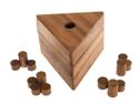 Rollen Dreieck (Dr. Rüdiger Thiele / Konrad Haase, Deutschland, 198?), Holzspiel, Denkspiel, Knobelspiel, Geduldspiel aus Holz
