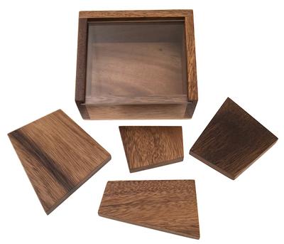 Pollys Steinplatten (Stewart T. Coffin, USA, 1993), Holzspiel, Denkspiel, Knobelspiel, Geduldspiel aus Holz – Bild 2