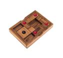 Center, Basketballspiel, Holzspiel, Denkspiel, Knobelspiel, Geduldspiel aus Holz, Schiebespiel