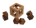 3Q-Cube (Takeyuki Endou, Japan, 2005), Holzspiel, Denkspiel, Knobelspiel, Geduldspiel aus Holz