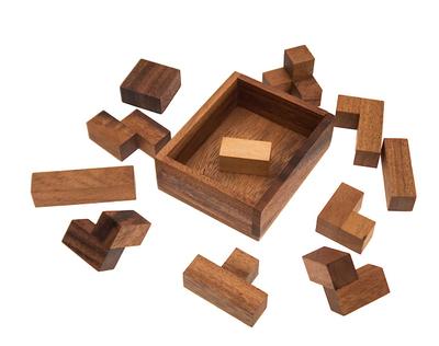 Versteck die Zwei, (Ferdinand Lammertink, Niederlande 2004), Holzspiel, Denkspiel, Knobelspiel, Geduldspiel aus Holz – Bild 2