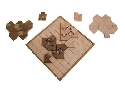 exklusiv (Niek NFFX Neuwahl, Italien, 2004), Holzspiel, Strategiespiel für 2 Personen, Familienspiel, Gesellschaftsspiel aus Holz – Bild 2