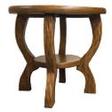 Handgefertigter, stabiler Kindertisch, rund, Holz – Bild 2