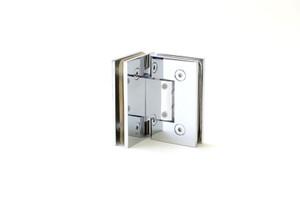 """Duschtürbeschlag, Scharnier für Dusch-Tür, """"Finesse"""", Glas-Glas, 90°, Chrom – Bild 5"""