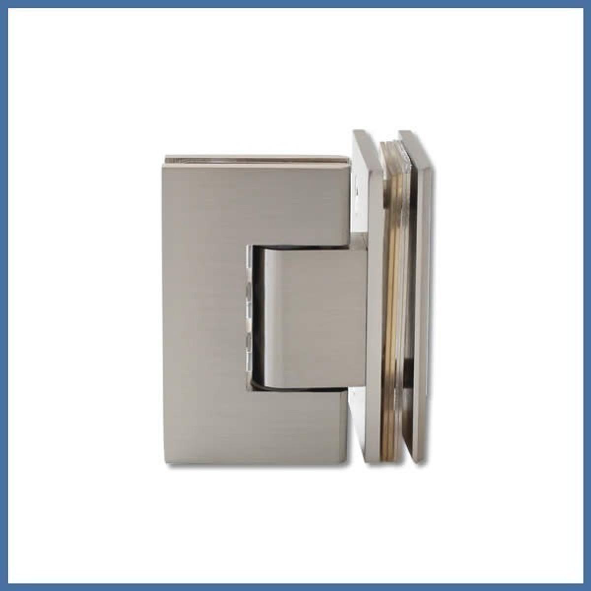 """Duschtürbeschlag, Scharnier für Dusch-Tür, """"Finesse"""", Glas-Glas, 90°,VA-Finish"""