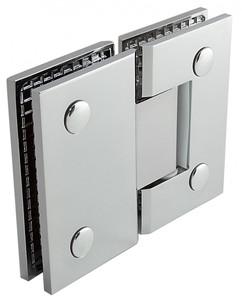 """Duschtürbeschlag, Scharnier für Dusch-Tür, """"Finesse"""", Glas-Glas, 180°, Chrom – Bild 4"""