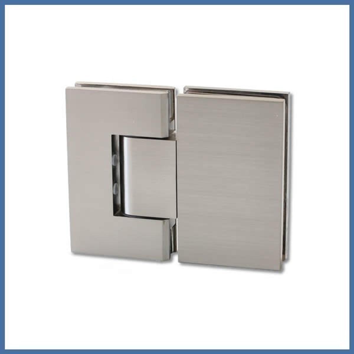 """Duschtürbeschlag, Scharnier für Dusch-Tür, """"Finesse"""", Glas-Glas, 180°, VA-Finish"""