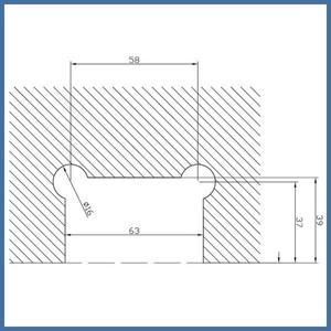 """Nischen-Dusche """"Door"""", 2000 x 795-800mm, Finesse Line, Chrom (Hochglanz) – Bild 3"""