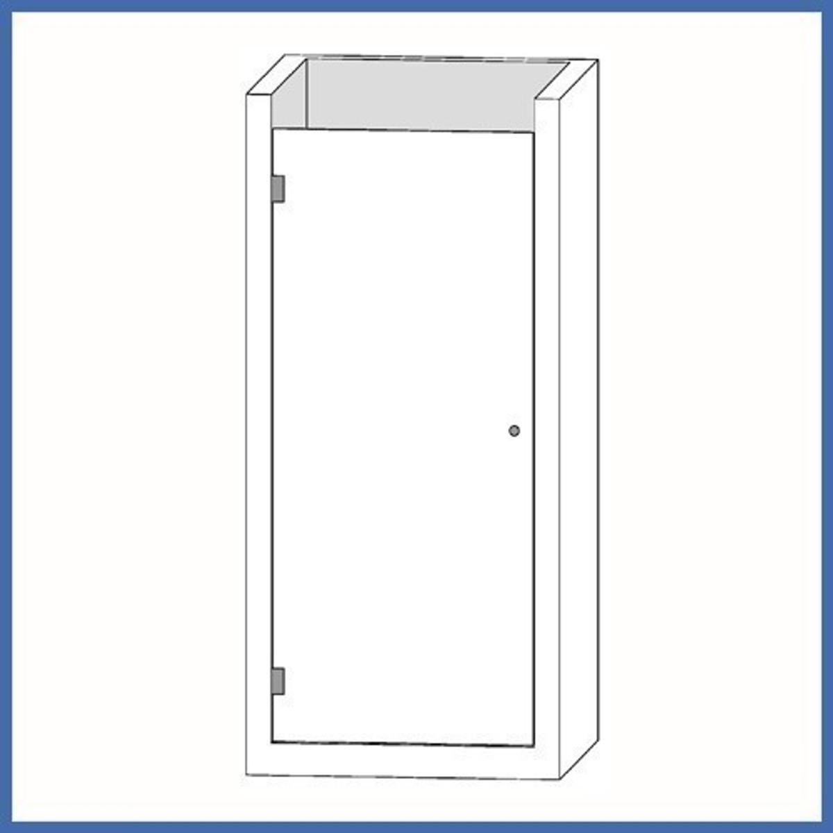 """Nischen-Dusche """"Door"""", 2000 x 885-890mm, Finesse Line, VA-Finish"""