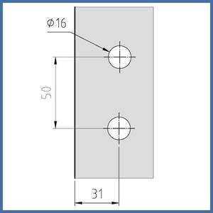 """Duschtürbeschlag, Scharnier Dusche, """"Maxime"""", Hebe-Senk (links), Glas-Wand, 90°, Chrom – Bild 2"""