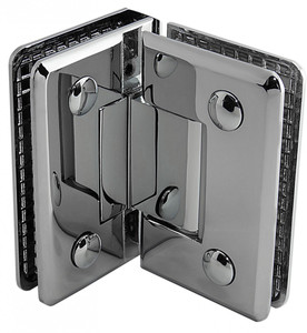 """Duschtürbeschlag, Scharnier für Dusch-Tür, """"Talais"""", Glas-Glas, 90°, Chrom – Bild 2"""