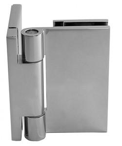 """Duschtürbeschlag, Scharnier für Dusch-Tür, """"Slim Line"""", Glas-Wand, 90°, Chrom – Bild 4"""