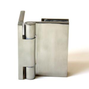 """Duschtürbeschlag, Scharnier für Dusch-Tür, """"Slim Line"""", Glas-Wand, 90°,VA-Finish – Bild 1"""