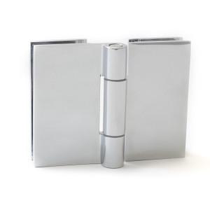 """Duschtürbeschlag, Scharnier für Dusch-Tür, """"Slim Line"""", Glas-Glas, 180°, Chrom – Bild 1"""