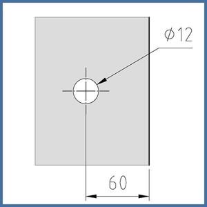 "Nischen-Dusche ""Door"", 2000 x 620-625mm, Slim Line, Chrom – Bild 5"