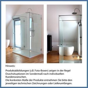 """Nischen-Dusche """"De Luxe"""", 2000 x 1115-1123mm (800/300), Slim Line, Chrom – Bild 2"""