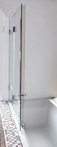 Badewannenaufsatz Double Swing 1015mm x 8mm x 1300mm, Slim Line, Glanzchrom – Bild 8