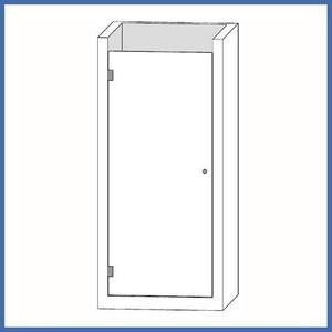 "Nischen-Dusche ""Door"" 2000 x 620-625mm, Slim Line, Chrom – Bild 1"