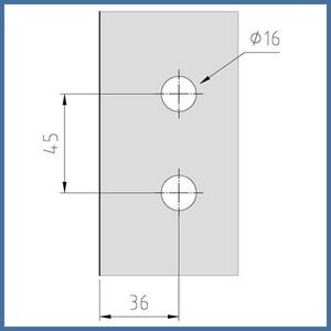 """Nischen-Dusche """"Door"""" 2000 x 820-825mm, Slim Line, VA-Finish – Bild 3"""