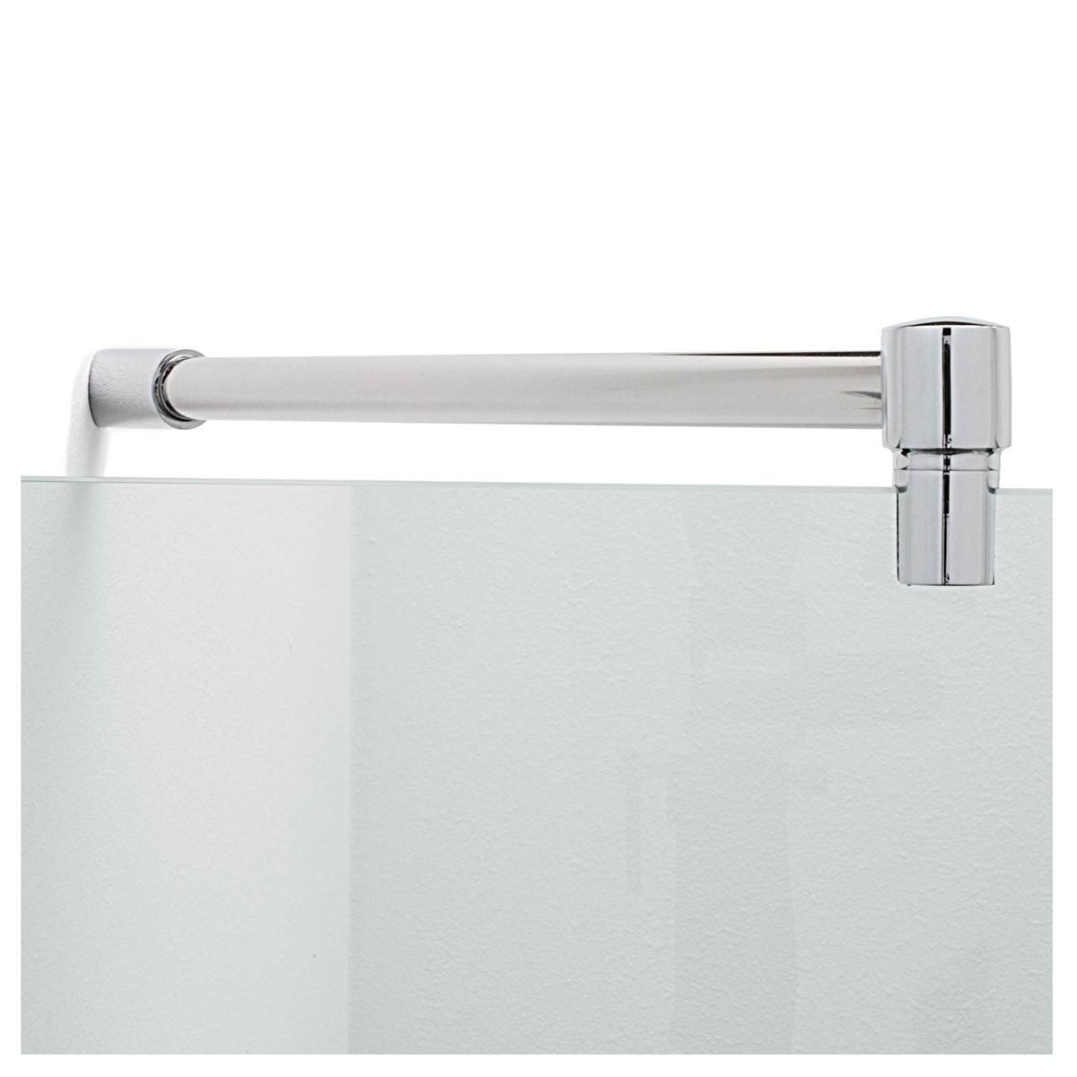 Fixum Stabilisationsstange Haltestange (Diagonal 45°) für Duschen Glas-Wand, 300/500 x 19mm, Chrom