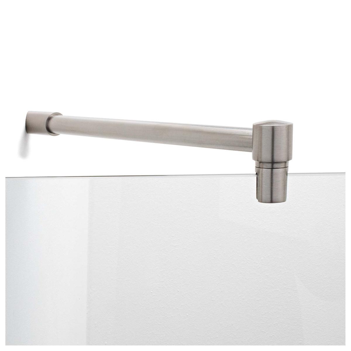 Fixum Stabilisationsstange Haltestange (Diagonal 45°) für Duschen Glas-Wand, 300/500 x 19mm, VA-Finish