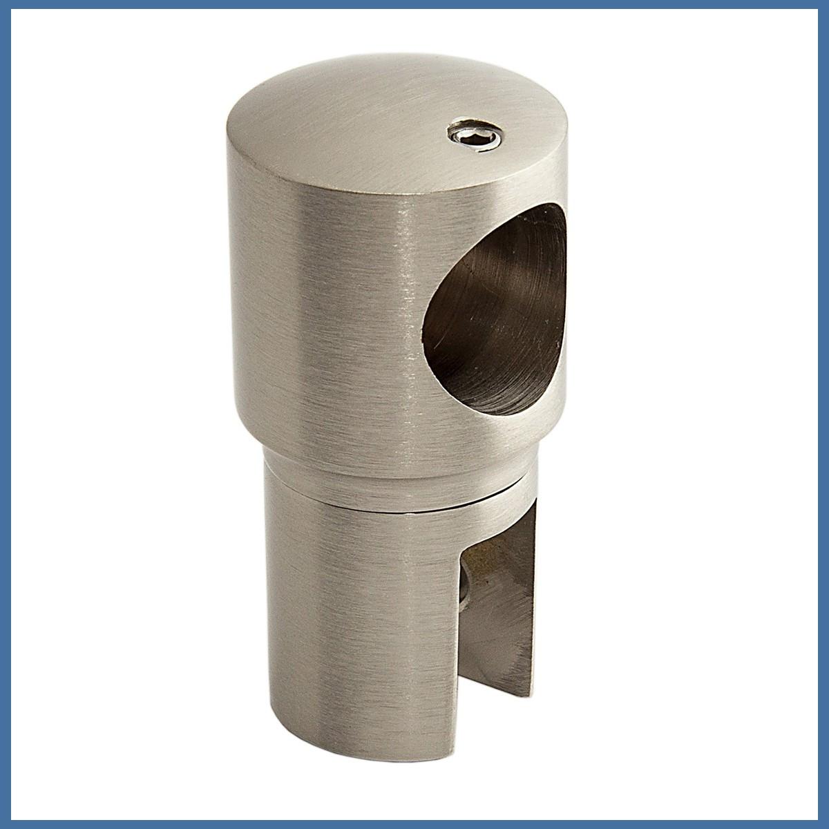 Fixum Glashalter für Haltestange für Duschen, VA-Finish