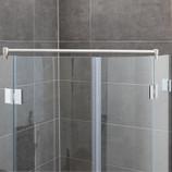 Fixum Haltestange für Duschen Glas-Glas, 1000/1200/1500 x 19mm, VA-Finish 001