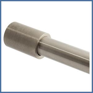Fixum Haltestange m. Seitenarm, 1000/1200/1500mm (VA-Finish) – Bild 2