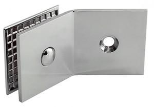 Winkelverbinder Fixum S, Glas-Wand, 135°, Chrom – Bild 2