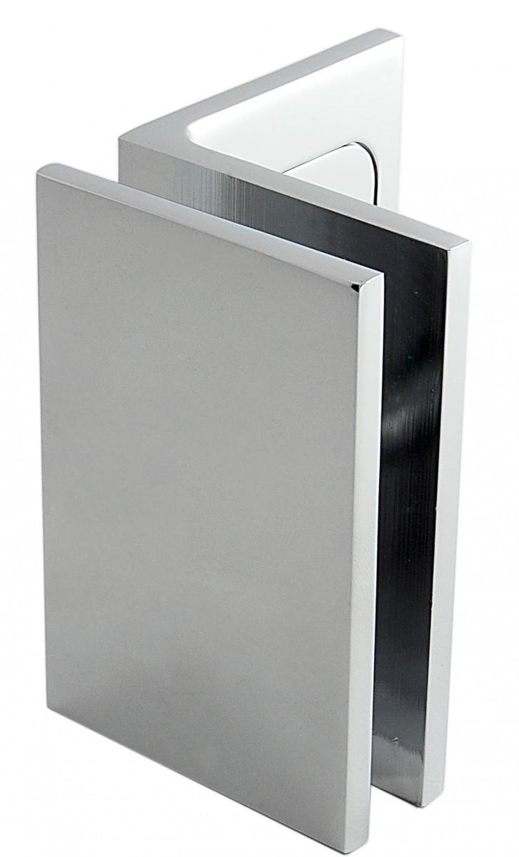 Winkelverbinder Fixum LS, Glas-Wand, Befestigungswinkel für Dusche 90°, Chrom