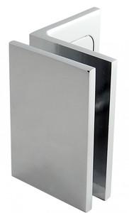 Winkelverbinder Fixum LS, Glas-Wand, Langloch m. Abdeckung, 90°, Chrom – Bild 1