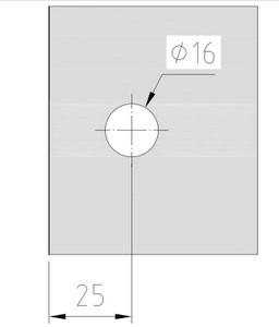 Winkelverbinder Fixum LS, Glas-Wand, Langloch m. Abdeckung, 90°, Chrom – Bild 3