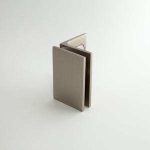 """Winkelverbinder """"Fixum LS"""", Glas-Wand, Langl. mit. Abd.,  90°, H=70mm, VA-Finish – Bild 1"""