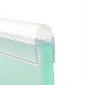 Streifdichtung Duschdichtung mit Balg, 1000mm, für 8mm Glas, kurzer Glaseinstand, transparent – Bild 2