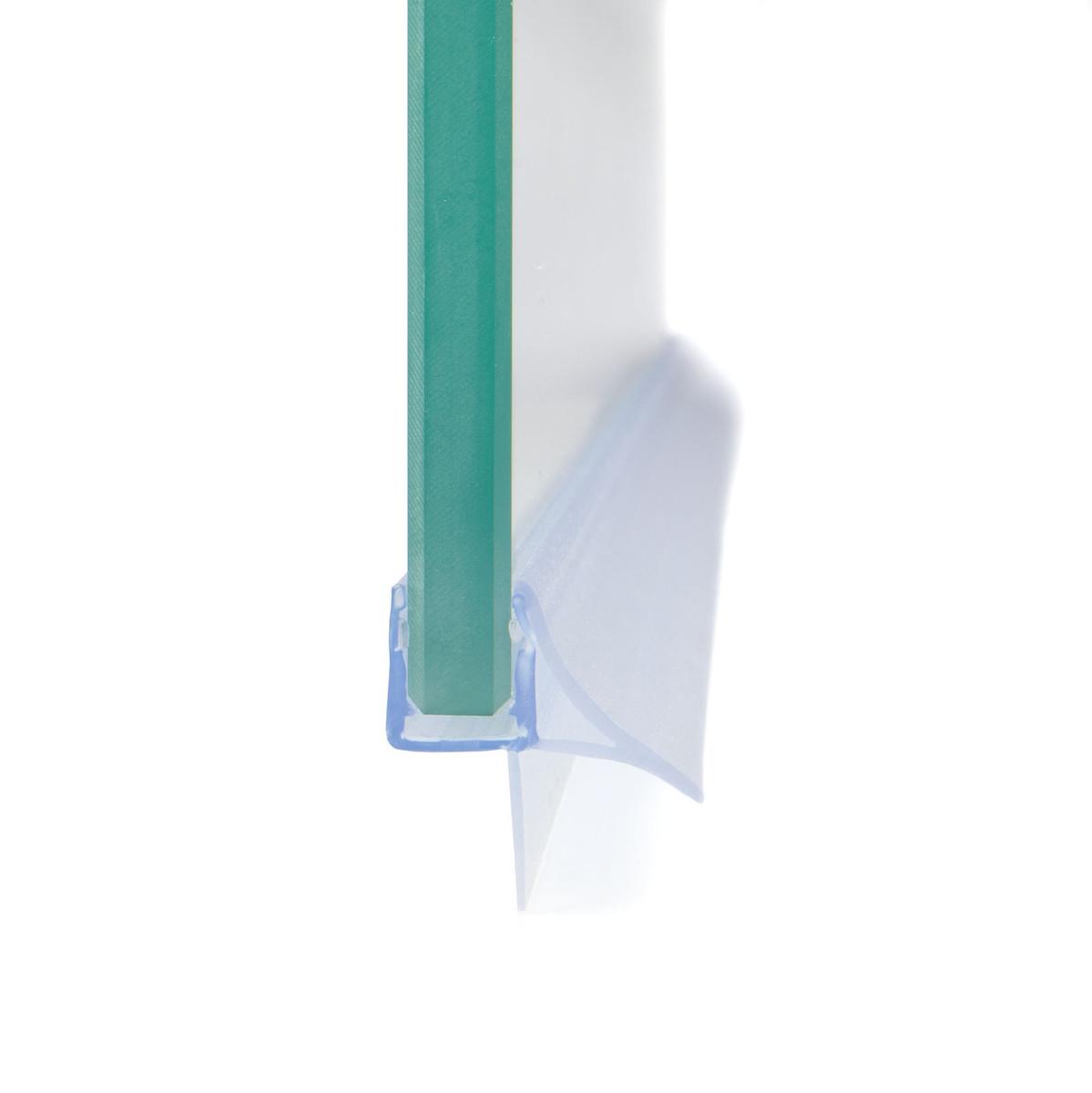 Streifdichtung mit stabilisiertem Schwallschutz, Schwallleiste, Ersatzdichtung, Wasserabweiser, Duschdichtung für 5-8mm Glas Duschen, Tür