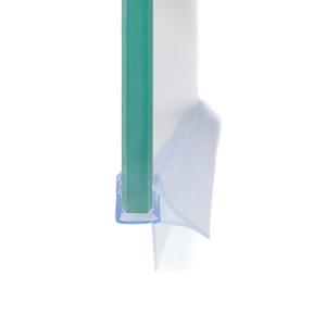 Streifdichtung mit stabilisiertem Schwallschutz, Schwallleiste, Ersatzdichtung, Wasserabweiser, Duschdichtung für 5-8mm Glas Duschen, Tür – Bild 1