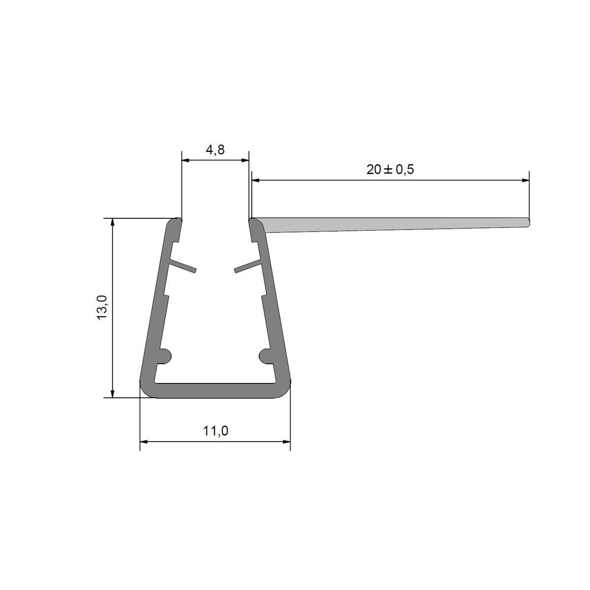 Duschdichtung Dichtprofil Anschlagdichtung Eckanschlagprofil 90 ° für 5-6 mm Glas Duschen, 1000mm