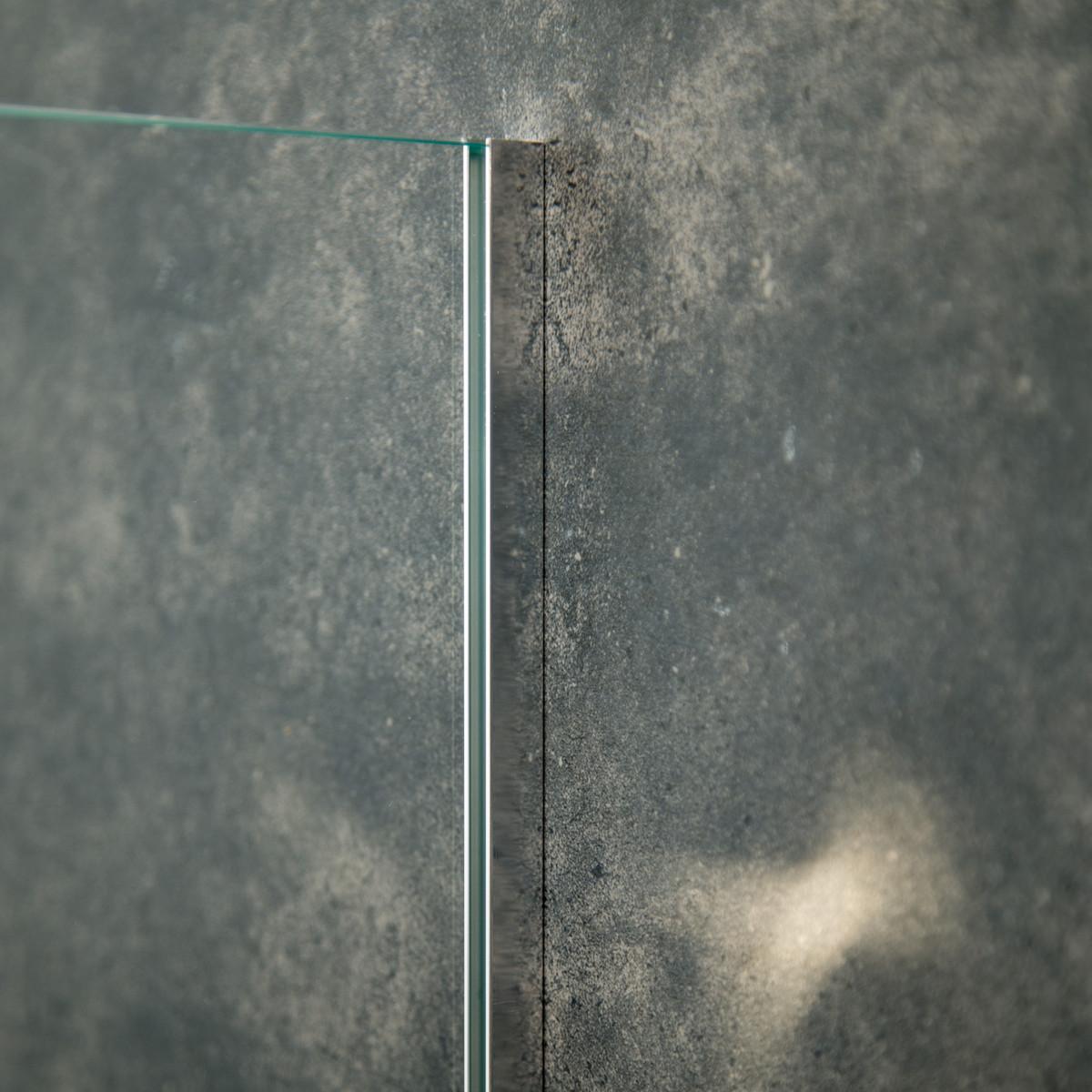 Aluminium U-Wandprofil, 2010 x 10 x 10 x 10 x 1mm, Chrom/VA/Matt