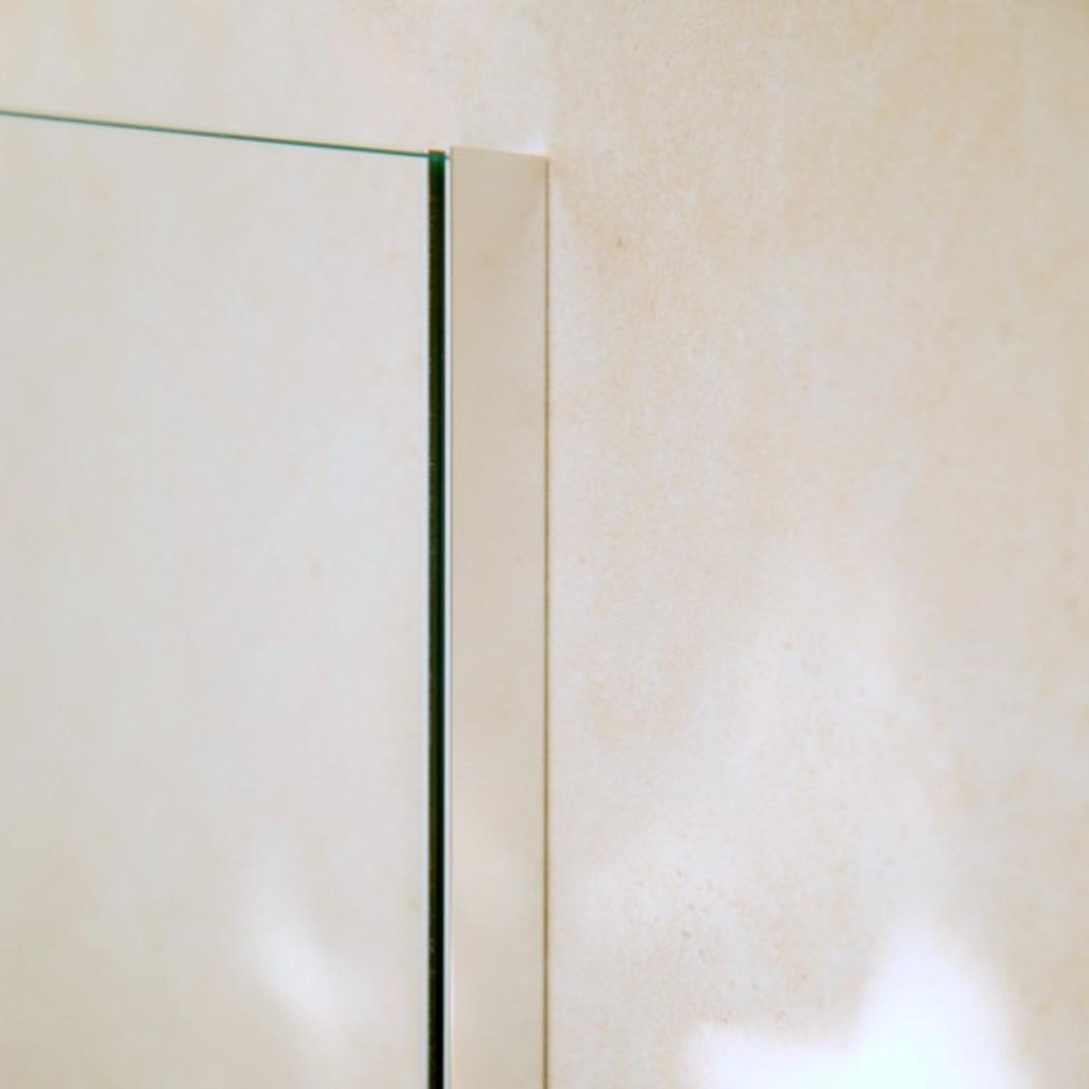 U-Profil Aluminium (Wandbefestigung), 2010 x 20 x 12 x 20 x 2mm, Chromoptik