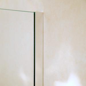 U-Profil Aluminium (Wandbefestigung), 2010 x 20 x 12 x 20 x 2mm, Chromoptik – Bild 1