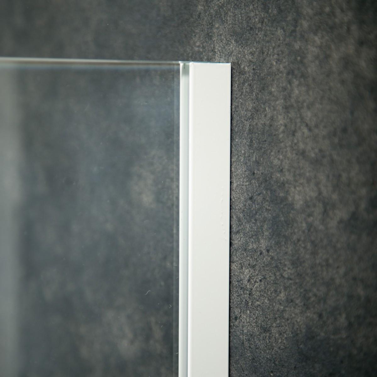 Aluminium U-Wandprofil, 2010 x 20 x 12 x 20 x 2mm, Weiß