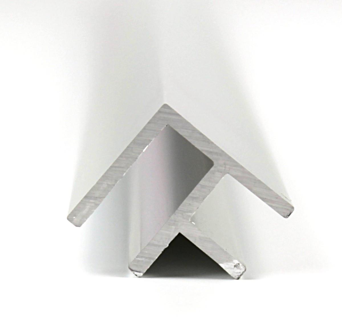 Eckprofil Aluminium, 2010 x 22 x 12 x 20 x 1,5mm, Chromoptik