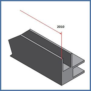 "Walk-In Dusche ""Straight L Side Plus"" 1000/1000/300mm, Alu-Profil, Chromoptik – Bild 6"