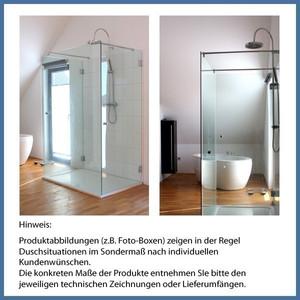 "Walk-In Dusche ""Straight L Side Plus"" 900/1100/300mm, Alu-Profil, Chromoptik – Bild 2"