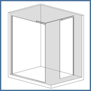 "Walk-In Dusche ""Super L Plus"" 1100/1000mm, Alu-Profil, Chromoptik – Bild 1"