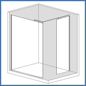 "Walk-In Dusche ""Super L Plus"" 1100/700mm, Alu-Profil, Chromoptik – Bild 1"