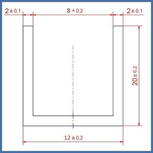 "Walk-In Dusche ""Super L Plus"" 1200/800mm, Alu-Profil, Chromoptik – Bild 4"